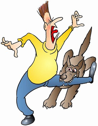 Image result for dog bite cartoon images
