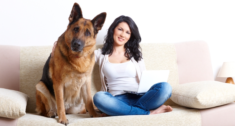 Woman-and-Dog-Couch
