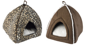 Igloo Cat Beds replicate an enclosed cave like space offering a great deal of privacy to Cats as they are covered on top resembling a tiny house with a roof. Image: EBAY