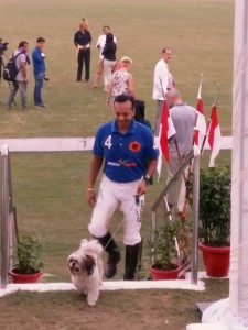 7.Naveen Jindal with his lucky mascot/pet dog. Naveen Jindal was also playing the final match of I.L.A Pasrich & Company Bhopal Pataudi Polo Cup 2016 held last month in Delhi.