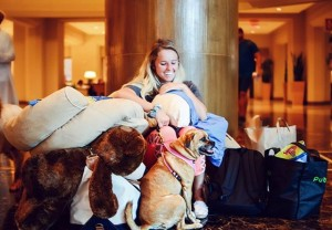 A plush setting, comfy beds, clean linen and special walking zones for animals is what was laid out by the hotel chain to maximize comfort and security of their furry clientele. Hyatt Hotel, Orlando definitely went all out to ensure pets and people a relaxing time amid the entire chaos and heart break caused by hurricane Irma. Image - collegecandy.com