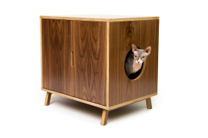 You should ideally have at least two litter boxes for a single cat household. Those owning a young or an old cat may place a box on each floor of the house so that it can conveniently be reached by the mouser in a rush. Image-www.modernistcat.com