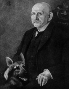 Max's idea was to focus on the dog's intelligence and usefulness to mankind. Image- wikipedia/Max_von_Stephanitz