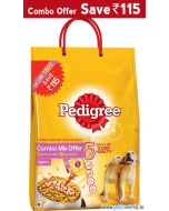 Pedigree Puppy Chicken and Milk 3 Kg + 4 Gravy Pouches COMBO MIX OFFER