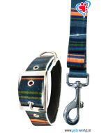 Petsworld Printed Dog Collar And Leash 2