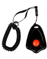 Trixie Clicker with Spiral Wrist Loop Assorted  Black