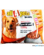 All4pets Chunks In Gravy Chicken, Liver, Turkey, Tuna, Pork Dog Food 400gm