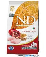 Farmina N&D Low Grain Chicken & Pomegranate Adult Medium Dog Food 2.5 Kg
