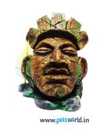 Aqua Geek Aquarium Resin Toy - Aztec Head