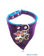 Petsworld Mario Puppy Dog Bandana Collar (Purple)