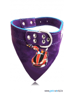 Petsworld Mario Dog Bandana Collar (Purple)