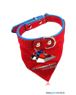 Petsworld Mario Puppy Dog Bandana Collar (Red)