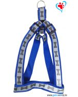 Petsworld Bone Mark Reflective Dog Harness - Blue