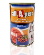 All4Pets Chicken Chunks in Gravy Can Food For Adult Dog 400 gms