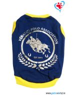 "DOGEEZ Winter Dog Tshirt "" POLO "" Blue 12 Inches"