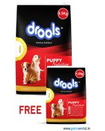Drools Puppy Chicken and Egg Dog Food 6.5 Kg + 1.2 Kg FREE