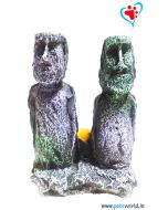 Aqua Geek Easter Island Statue For Aquarium Decor Bubble Stone