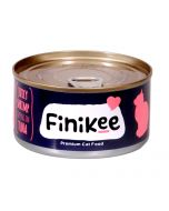 Finikee Juicy Shrimp Topping On Tuna Premium Canned Cat Food 185 gms