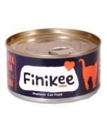 Finikee Coastal Crab Topping On Tuna Premium Canned Cat Food 185 gms