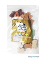 Gnawlers Wang Wang Cut Bone Dog Treats (Medium) 250 gms