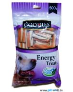 Goodies Dog Treats Twisted Stick 2 Colors Pudding And Milk 500 gms