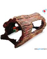 Aqua Geek Half Driftwood Hideout Log Aquarium Toy