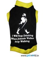 Dog Winter Tshirt Johnnie Walker 18 inches