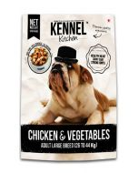 Kennel Kitchen Chicken & Vegetables Gravy Dog Food For Adult Large Breed 300 gms