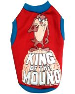 """Dog Winter Tshirt """" KING OF THE MOUND"""" 16 inches"""