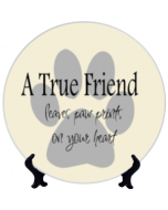 TRUE FRIEND 3D Ceramic Plate 7.5""