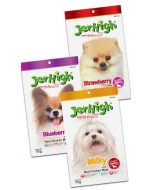 Jerhigh Dog Treats Fruit and Milk Sticks Combo