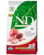 Farmina N&D Pumpkin Grain Free  Chicken & Pomegranate Adult Mini Dog Food 7 Kg