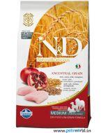 Farmina N&D Low Grain Chicken & Pomegranate Adult Medium Dog Food 12 Kg