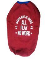 """Designer Dog Tshirt """" * NO WORK * """" Red 24 inches"""