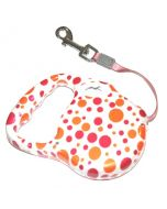 Polka Retractable Dog Leash Small