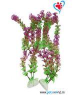 Aqua Geek Classic Purple Aquarium Plant Pair 9 inches