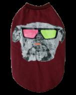 DOG EEZ Dog Tshirt ROCKSTAR Maroon 22 inches