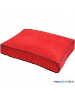 Petsworld Rectangular Dog Bed Medium (Red)