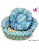 DOGEEZ Cabana Lounger Bed Blue - Medium
