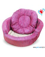 DOGEEZ Cabana Lounger Bed Pink - Large