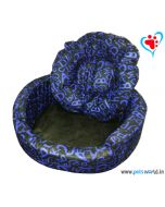 DOG EEZ SCRIBBLE Round Lounger Dog Bed - Small