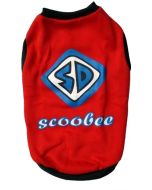 Dog Winter Tshirt SCOOBEE Red 16 inches