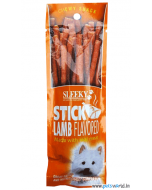 Sleeky Chewy Snack Lamb Flavored Sticks Dog Treats 50 gms