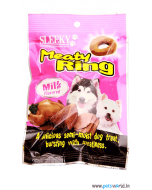Sleeky Meaty Ring Milk Flavored Dog Treats 70 gms