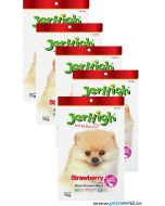 Jerhigh Dog Treats Strawberry Fruity Stick 70 Gms 5 Pcs Combo
