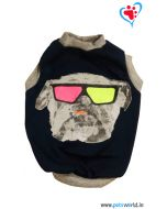 DOGEEZ Winter Dog Tshirt ROCKSTAR Blue 12 inches