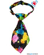 Dogeez Puppy/Mini Breed Adjustable Dog Tie - Color Splash