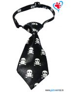 Dogeez Puppy/Mini Breed Adjustable Dog Tie - Scary Skull