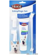Trixie Dental Care Set Dog Toothbrush And Mint Toothpaste 100g