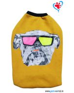 DOGEEZ Winter Dog Tshirt ROCKSTAR Yellow 22 inches